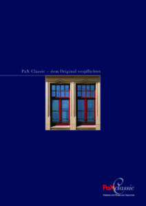 Broschüre PaX Classic Fenster
